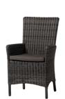 New Castle dining stoel rocky grey, incl. cushion