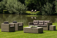 Lancaster lounge stoel natura incl. kussens